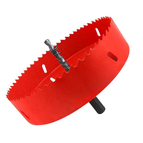 Ding Xi 5.5inch(140mm) hole saw, used to make Cornhole wood board, bimetal wood board hole opener, gypsum board, PVC plastic iron plate downlight, drill bit, ceiling hole opener