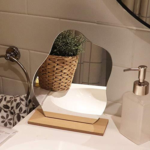 Dekorative Spiegel, Ins unregelmäßige Sternform Acrylspiegel mit Holzsockel, für Make-up und Tischdekoration