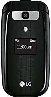 LG B470 AT&T Prepaid Basic 3g Flip Phone, Black - Carrier Locked to AT&T
