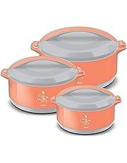 MILTON Divine Jr Inner Steel Casserole Gift Set of 3, Orange