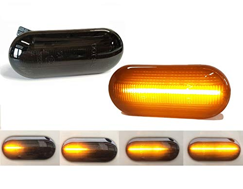 dynamischer LED Seitenblinker Set schwarz Laufblinker SV04LBSY Blinker Neu