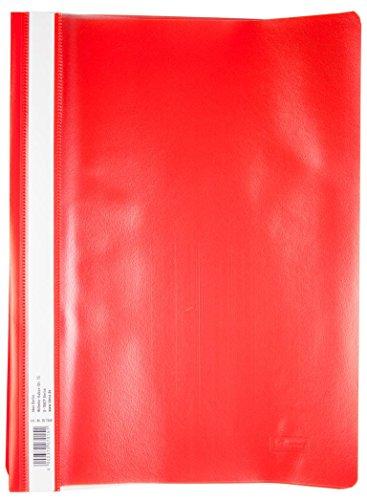 10 Schnellhefter DIN A4 / PP / extra stark / Farbe: rot