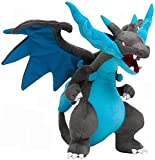 Callibrio Mega Charizard X Plush Toy - Perfect Large Stuffed Dragon Plush Toy - Large Size - 10 Inches