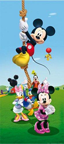 1art1 Micky Maus - Minni Maus, Daisy Duck Und Freunde, Klettern Am Seil Fototapete Poster-Tapete 202 x 90 cm