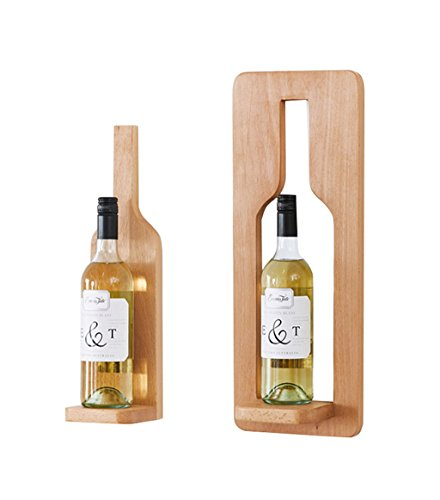 WYB Porte bouteille Casier À Vin En Bois Massif Suspension À La Maison De Raisin 3 Styles Étagère de rangement (Couleur : C)