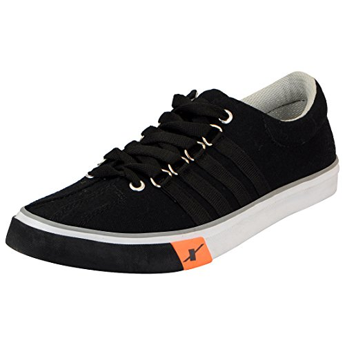 Sparx Men's SC0162G Black Canvas Sneakers - 10 UK/ (44 2/3 EU) (SC0162G_BKBK0010)