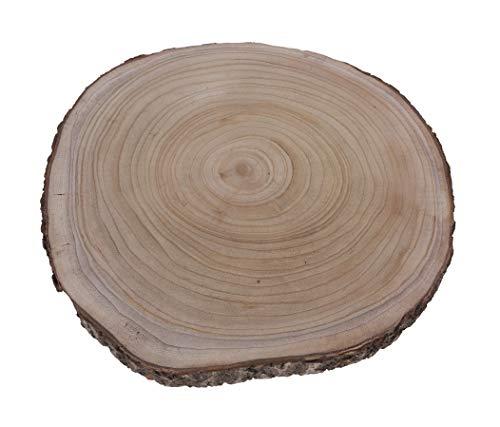 Meinposten. Großes Dekobrett Holz Holzbrett Baumscheibe Brett Tischdeko Tablett Deko Ø 50 cm