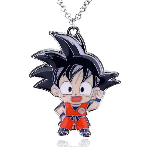 YUNMENG Jungen Männer Anime Dragon Ball Z Sohn Goku Figur Mode Halskette Super Saiyajin Metall Anhänger Halskette Schmuck Ornamente Kragen