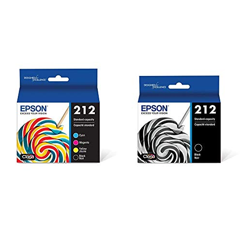 Epson T212 Claria Standard Capacity Cartridge Ink - Black and Color Combo Pack & T212 Claria Standard Capacity Cartridge Ink - Black, T212120-S
