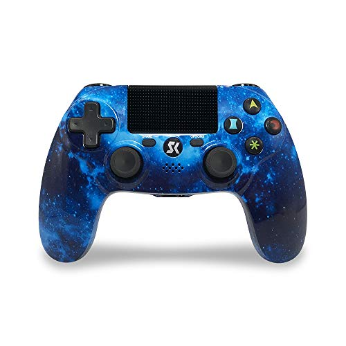Mando PS4 Inalámbrico Dual Shock Gaming con Controlador Táctil de Alta Precisión para Sony Playstation 4/PS4 Pro/Slim/PC - Blue