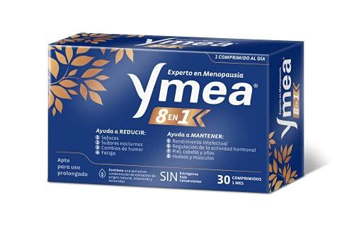 Ymea 8 en 1 | Control de los 8 síntomas de la menopausia | Apto para uso prolongado | Sin estrógenos, soja o conservantes | 1 cápsula al día | Tratamiento de 1 mescápsulas al día | Tratamiento 1 mes