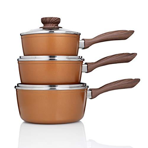 JML Copper Stone Pans: Saucepans (6 pcs)