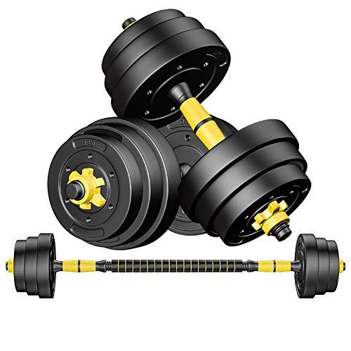 JESU Hantel-Set, verstellbare Gewichte, Hantel-Set für Männer und Frauen, mit Verbindungsstange, kann als Langhantelstange für Zuhause, Fitnessstudio, Workout, Training, 1 Paar, 40 kg