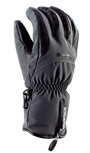 VIKING Handschuhe Winter Skihandschuhe Herren - sehr warm, atmungsaktiv und wasserdicht - mit Primaloft Isolierung - Soley, 08 grau, 10