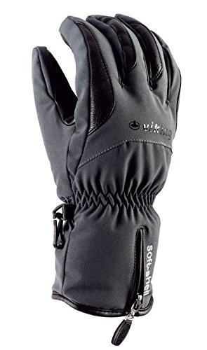 VIKING Gants Hiver Gants De Ski Femme Et Homme - Très Chauds, Respirants Et Imperméables - avec Isolation Primaloft - Soley, 08 Gris, 10