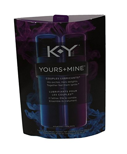 K-Y Yours+Mine Couples Lubricants 1.5 fl oz (1 Pack of 2 bottles)