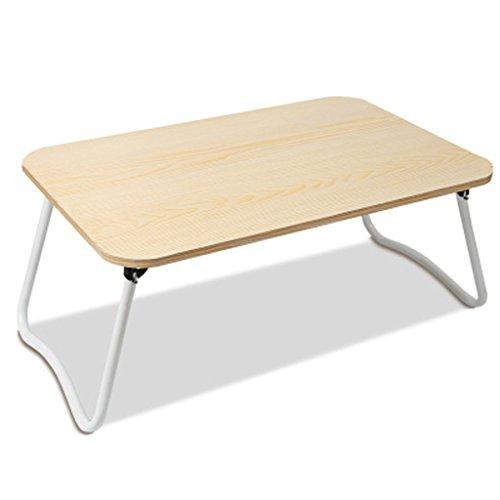MEILING Table pliante en couleur érable blanc Table simple Bureau paresseux