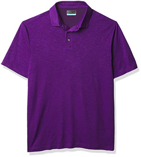 PGA TOUR Herren Short Sleeve Slub Polo Golf-T-Shirt, Purple Pak Choi, X-Large