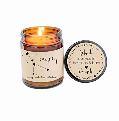Cancer Zodiac Candle Zodiac Gifts Birthday Gift Birthday Candle Personalized Soy Candle Cancer Gift Star Candle Star Sign Gift for Her