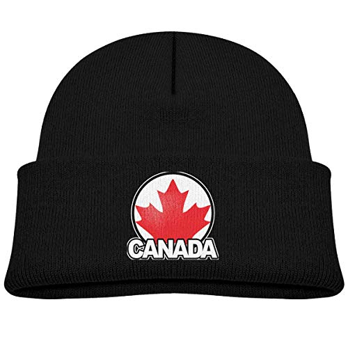 Daibing Kids Knitted Beanies Hat Canada Maple Leaf Winter Hat Knitted Skull Cap