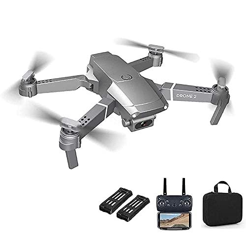 GZTYLQQ Drone con cámara HD de 720p, cuadricóptero RC Plegable de 2,4 g, 4 Canales y 6 Ejes para Adultos, niños, despegue con una tecla, Retorno, Control de Voz, Foto de Gestos, retención de altitud