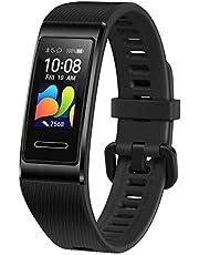 Huawei Band 4 Pro Pro Fitness Activity Tracker (Alles-in-één Slimme Armband, Hartslag- en Slaapbewaking), Ingebouwde GPS, Kleurenaanraakscherm, 5 ATM, Graphite Black