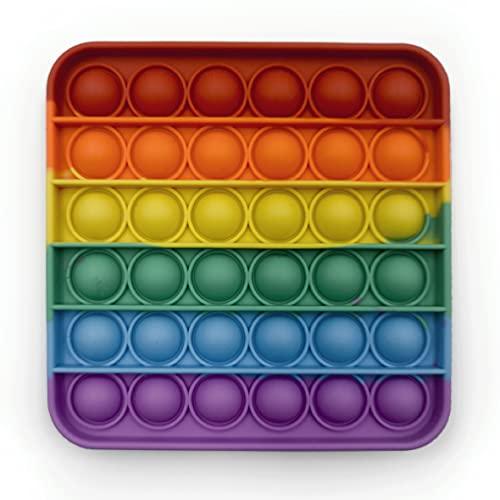 Droquimur | Pop It | Juguete Sensorial Antiestrés | Explotar Burbujas | Fidget Toy Relajante | Cuadrado | Rectángulo | Arcoíris Multicolor