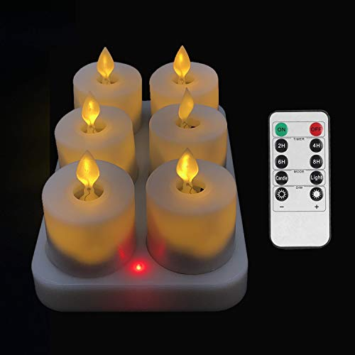 VVSISMUM Rechargeable Tea Lights,LED Tea Light,Fake Candles,Battery Candle,Electric Candles,flameless Candles