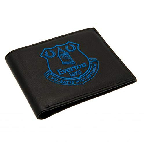 Everton FC Embroidered Wallet (One Size) (Black)