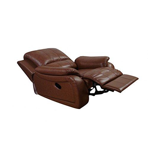 Mapo Möbel Leder Relaxsessel Fernsehsessel Schlafsessel Bettsessel 5129-1-08