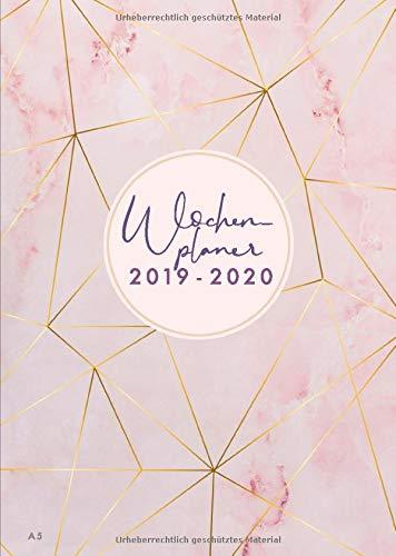 Terminarz tygodniowy na rok 2019-2020: od lipca 2019 r. do grudnia 2020, nowoczesne wzornictwo okładki Marble z wzorem w kolorze różowego złota, ... cm (artykuły biurowe 2019-2020, zespół 2)