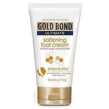 Gold Bond Ultimate Softening Foot Cream With Shea Butter to Soften Rough & Calloused Feet 4 oz.