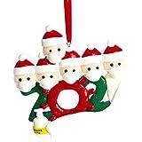 ZHANGXXX DIY Nombre Bendiciones Arcilla Suave Muñeco de Nieve Árbol de Navidad Colgante Colgante 6Pcs