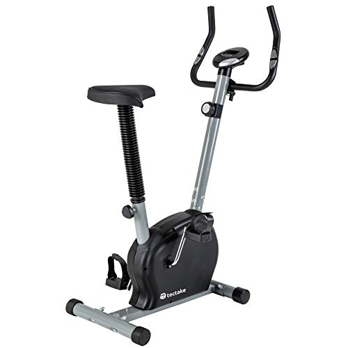 TecTake Fitness Fahrrad Hometrainer mit Computer und Handpuls-Sensoren