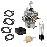 KIPA Carburetor for Briggs & Stratton 715670 715442 715312 185432 185437 Series Engine Lawn Mower, with Gaskets & Carbon Dirt Jet Cleaner Tool Kit