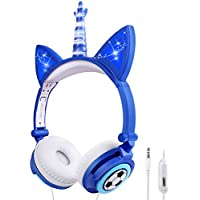 Sunvito Unicorn Wired On Ear Kids Headphone with Microphone
