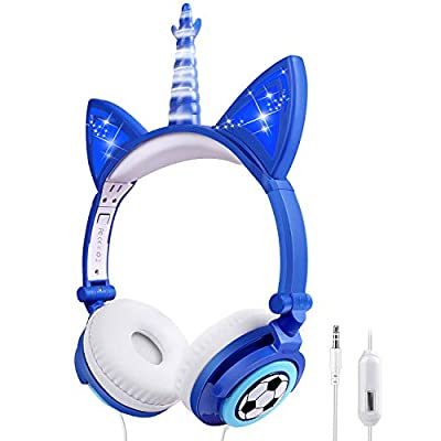 Sunvito Unicorn Headphones, Wired Kids Headphon...