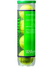 Wilson Tennisballen Starter Play Green voor kinderen en jongeren, geel, doos met 4 stuks, WRT137400