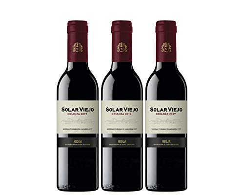 Solar Viejo Crianza - Vino Tinto Rioja - Pack de 3 de 370 ml - Total: 1110 ml