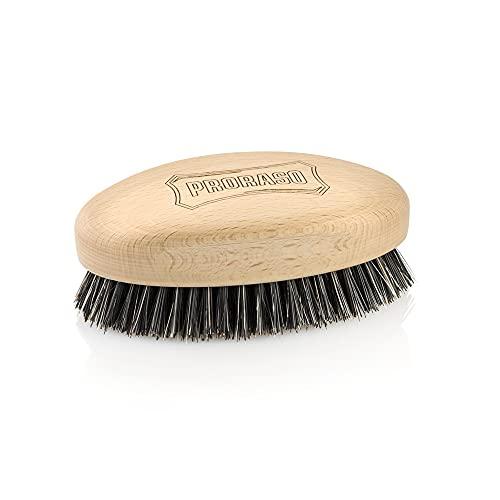 Proraso Cepillo para el pelo Old Style Military Brush – Cerdas cortas de fibras naturales y nailon – Mango de madera práctico 105 g