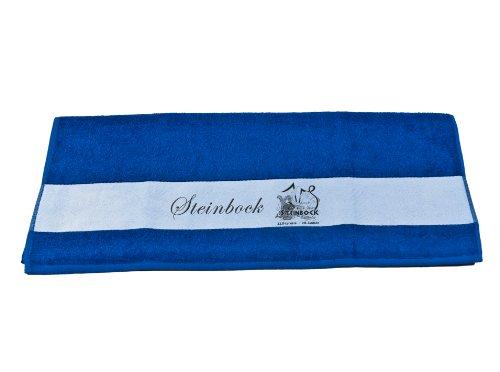 Badetuch Duschtuch Handtuch mit Sternzeichen Steinbock bedruckt 50x100cm oder 70x140cm (Handtuch 50x100cm, Royalblau)