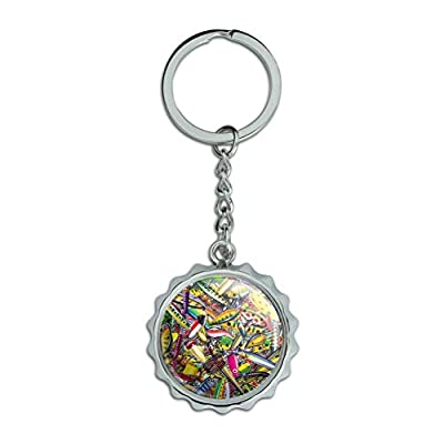 Fish Fly Fishing Lures Chrome Plated Metal Pop Cap Bottle Opener Keychain Key Ring from Graphics and More