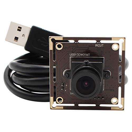 ELP 0.01 Lux Weitwinkel 2,1mm Objektiv 1.3MP Webcam,USB2.0 Low Illumination Kamera,Mini AR0331 Webcam Android Linux UVC 960P USB Kamera Modul USB130W01MT-L21