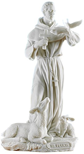 Design Toscano Saint Francis of Assisi Bonded Marble Resin Statue
