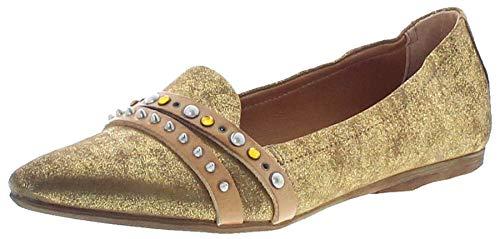 FB Fashion Boots Damen Schuhe A.S.98 525125 Airsteps Ballerinas Lederschuhe Gold 38 EU inkl. Schuhdeo