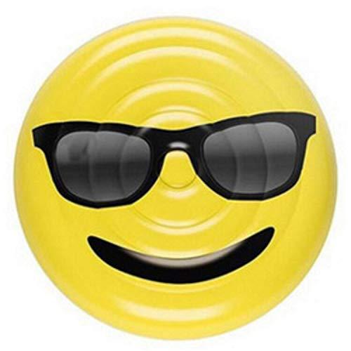 asdfkong Riesenschwimmring LOL Emoji Pool Float Sonnenbrille Emoticon Aufblasbare Schwimmen Breite Kühlen Für Pool Party Lounger