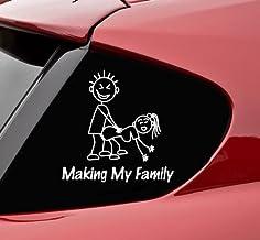 Slap-Art Making My Stick Figure Family Funny Vinyl Decal Bumper Sticker