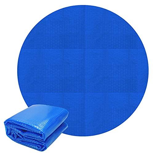 ECD Germany Cubierta Solar Redonda Ø 3,6m 140 µm Azul para Piscina...