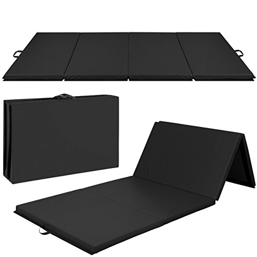 Best Choice Products 10ftx4ftx 2ft Folding Gym Mat 4-Panel Exercise Gymnastics Aerobics Workout Fitness Floor Mats w/Carrying Handles – Black