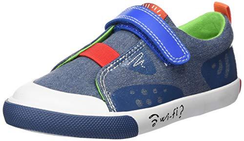 Garvalín Celso, Zapatillas para Niños, Azul (Vaquero Pique Paprika), 28 EU ✅
